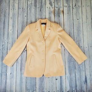 Harve Benard Wool Cashmere Butter Yellow Blazer 12